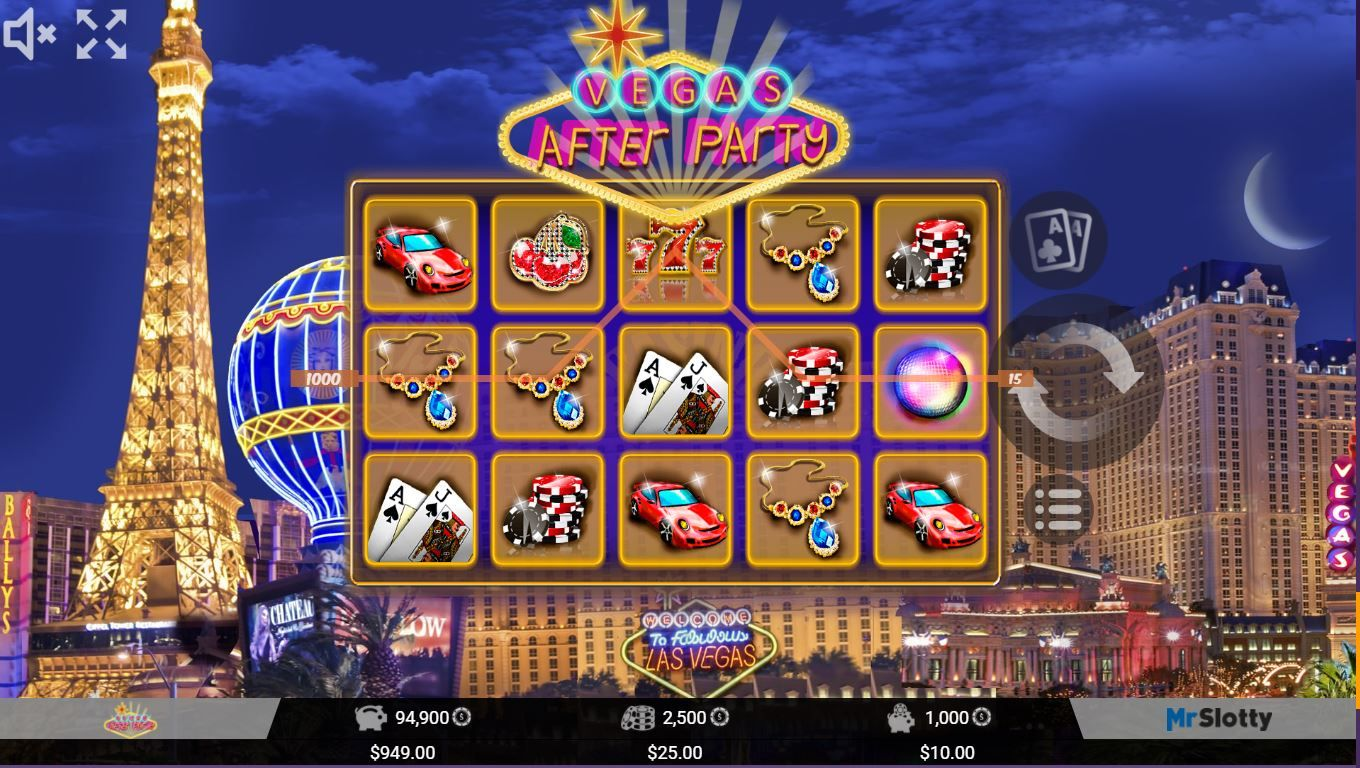 Vegas after party slots